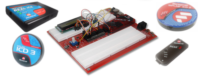 <strong>Works with any Microchip debugger</strong><br /><br />Works with PICKIT2, PICKIT3, ICD2, ICD3 and Real-ICE