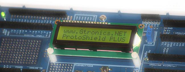 Predisposizione per LCD e Pushbuttons