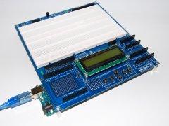 Arduino Proto Shield Plus with UNO board